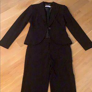 Calvin Klein suit black